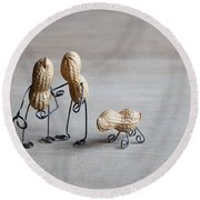 Together 02 Round Beach Towel
