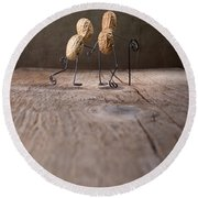 Together 03 Round Beach Towel