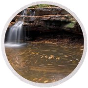 Tolliver Falls Round Beach Towel by Jeannette Hunt