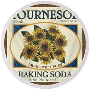 Tournesol Baking Soda Round Beach Towel