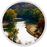 Round Beach Towel featuring the photograph Tranquil View by Peggy Franz
