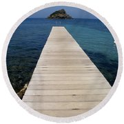 Round Beach Towel featuring the photograph Tranquility  by Lainie Wrightson