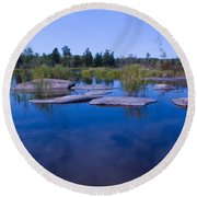 Trans Canada Trail Scenery Round Beach Towel