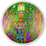 Trapped Ballerina Round Beach Towel