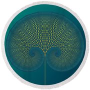 Tree Of Well-being Round Beach Towel by Mark Greenberg