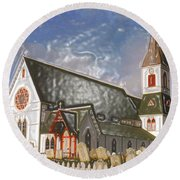 Round Beach Towel featuring the photograph Trinity  by Lydia Holly