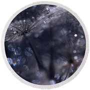 Round Beach Towel featuring the photograph Nature's Trinkets by Marion Cullen