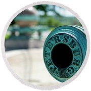 Trophy Point Cannon Round Beach Towel