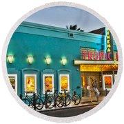 Tropic Cinema Round Beach Towel