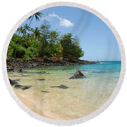 Round Beach Towel featuring the photograph Tropical Paradise by Lynn Bauer