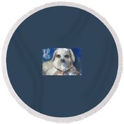 Trouble Round Beach Towel