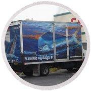 Truck Wraps Round Beach Towel
