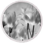 Tulips Glow Round Beach Towel
