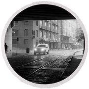 Round Beach Towel featuring the photograph Tunnel I by Lynn Palmer