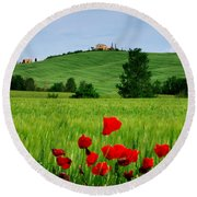 Tuscany  Round Beach Towel