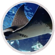 Underwater Flight Round Beach Towel