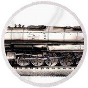 Union Pacific 4-8-8-4 Steam Engine Big Boy 4005 Round Beach Towel