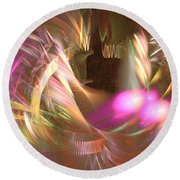 Untamed - Abstract Art Round Beach Towel