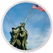 U.s Marine Corps Memorial Round Beach Towel