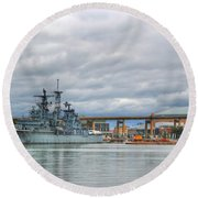 Round Beach Towel featuring the photograph Uss Little Rock by Michael Frank Jr