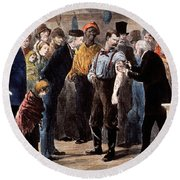 Vaccination Of The Poor, 1873 Round Beach Towel