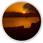 Round Beach Towel featuring the photograph Valhalla by Anne Rodkin
