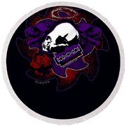 Vampyre  Round Beach Towel