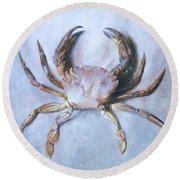 Velvet Crab  Study Round Beach Towel