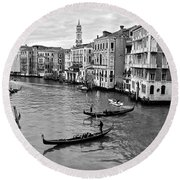 Round Beach Towel featuring the photograph Venezia by Eric Tressler