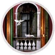 Venice Window Round Beach Towel by Diana Haronis