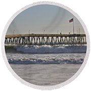 Ventura Pier Round Beach Towel