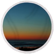 Venus And Atlantic Before Sunrise Round Beach Towel