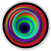 Vertigo Round Beach Towel