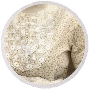 Victorian Dress Round Beach Towel