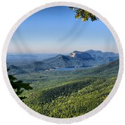 Round Beach Towel featuring the photograph View From Caesar's Head by Lynne Jenkins