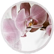 Vintage Orchid Round Beach Towel