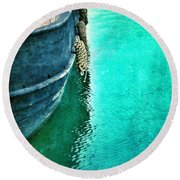Vintage Ship Round Beach Towel by Jill Battaglia