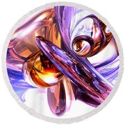 Vivacious Abstract Round Beach Towel