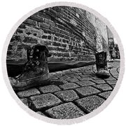 Round Beach Towel featuring the photograph Walkabout by Dan Wells