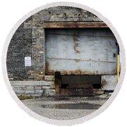 Warehouse Loading Dock Door 2 Round Beach Towel