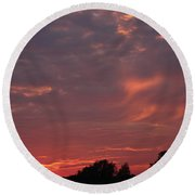 Round Beach Towel featuring the photograph Warwickshire Sunset by Linsey Williams