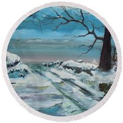 Washoe Winter Round Beach Towel