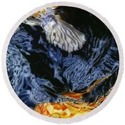Water Dance Round Beach Towel