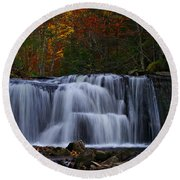 Waterfall Svitan Round Beach Towel