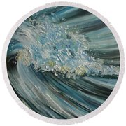 Round Beach Towel featuring the painting Wave Whirl by Julie Brugh Riffey