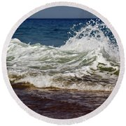 Waves In Motion Round Beach Towel