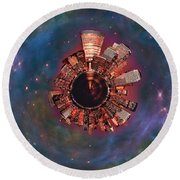 Wee Manhattan Planet Round Beach Towel by Nikki Marie Smith