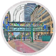 Round Beach Towel featuring the photograph Welcome No 2 by Michael Frank Jr