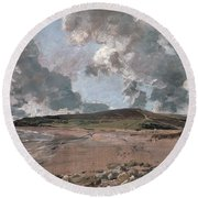 Weymouth Bay With Jordan Hill Round Beach Towel