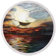What Dreams May Come.. Round Beach Towel